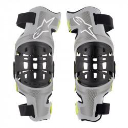 Genouilleres Bionic-7 Alpinestars Silver Yellow fluo L