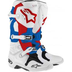 Bottes Alpinestars Tech 10 Blanc Blue Rouge 13 (48)