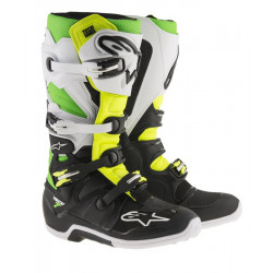 Bottes Alpinestar Tech 7 Bk/ Blanc/ Green/Yellow Fluo VEGAS 13 (48)
