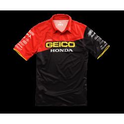 Pit Shirt 100% Geico/Honda Team Noir M