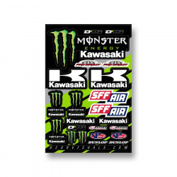 Planche stickers D'cor 16 Team Monster Kawasaki