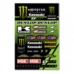 Planche stickers D'cor 17 Team Monster Kawasaki