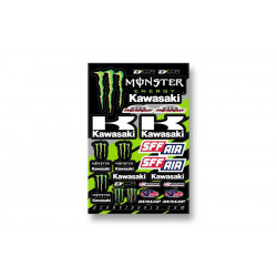 Planche stickers D'cor 18 Team Monster Kawasaki