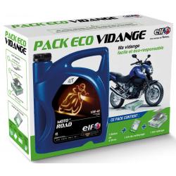 Huile moteur ELF 4 temps Moto 4 Road 10W40 4l+pack Eco Vidange