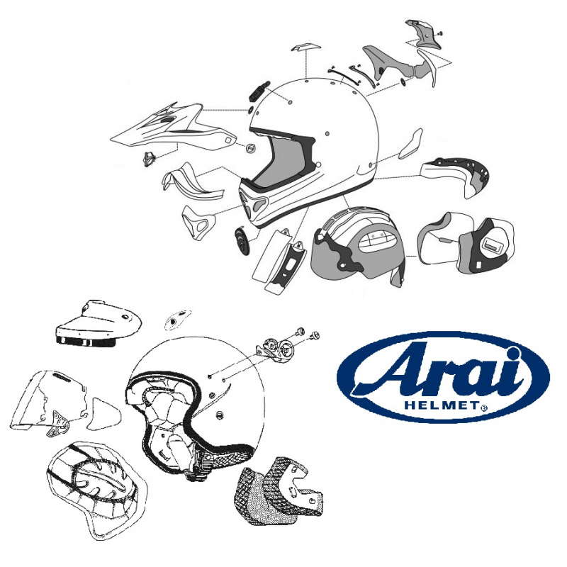 COUSS JOUE ARAI FREEWAY GRAPHICS 25MM CASQUE JET