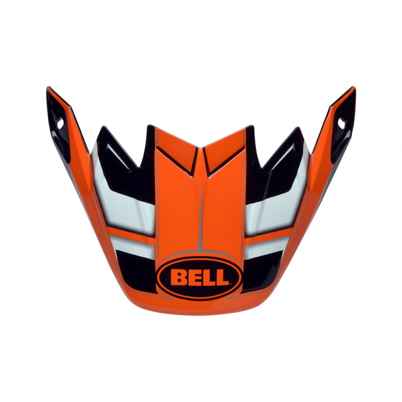 Visière Flex BELL Moto 9 Flex / Moto 9 Factory orange/noir