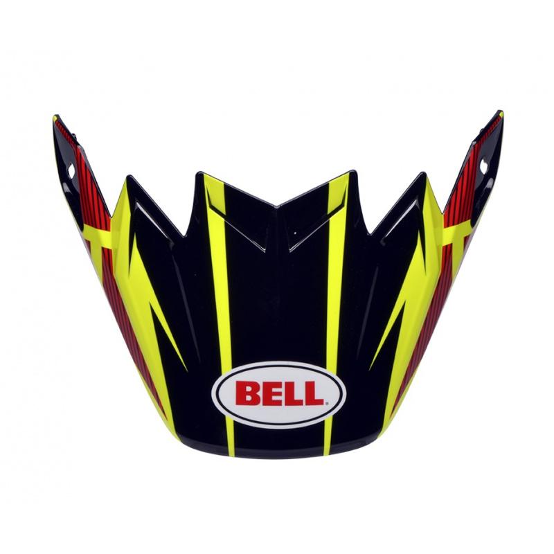 Visière Flex BELL Moto 9 Flex / Moto 9 Strapped jaune/rouge