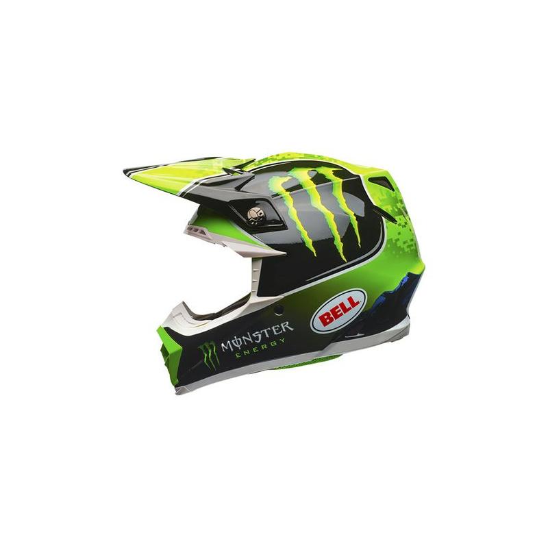 Visière BELL Tomac Replica Moto-9 Noir Vert