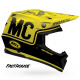 Visière BELL Moto-9 Flex Fasthouse noir/jaune fluo