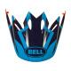 Visière BELL Moto-9 District bleu/orange
