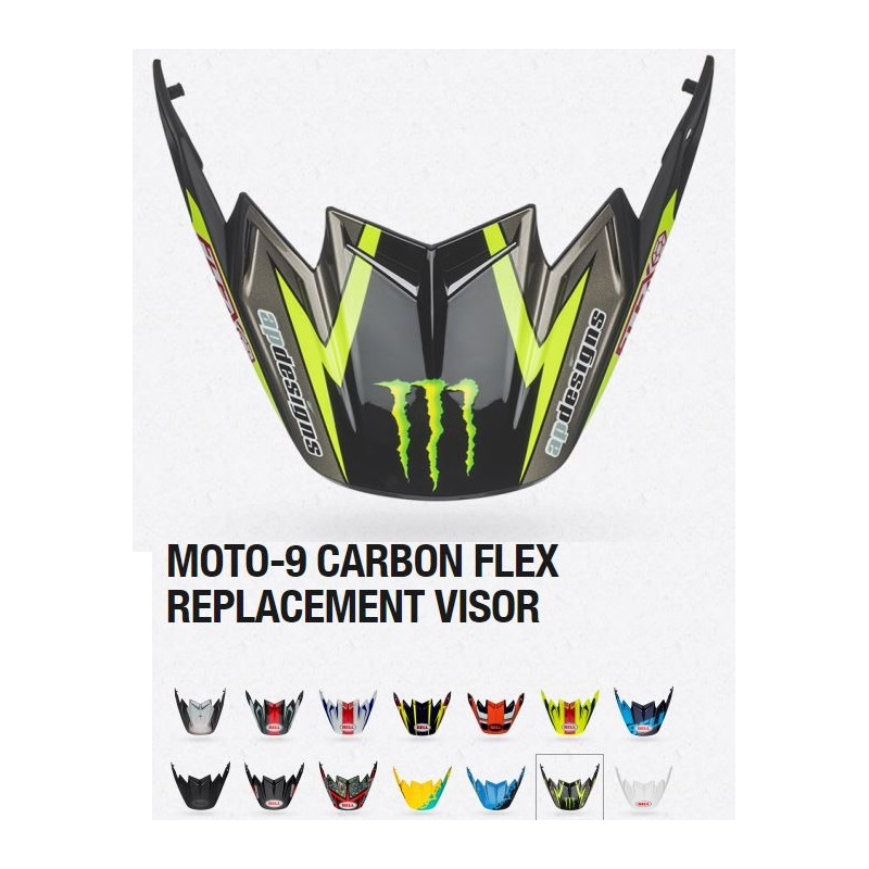 Visière BELL Moto-9 Flex Hound Orange/Charcoal