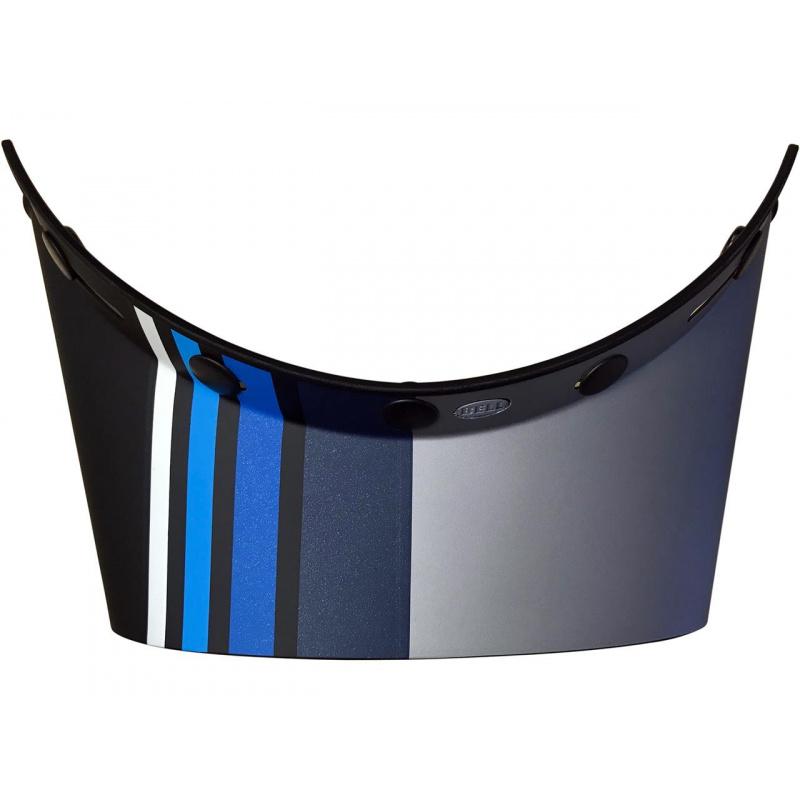 Visière BELL Moto-3 Stripes Noir/Bleu