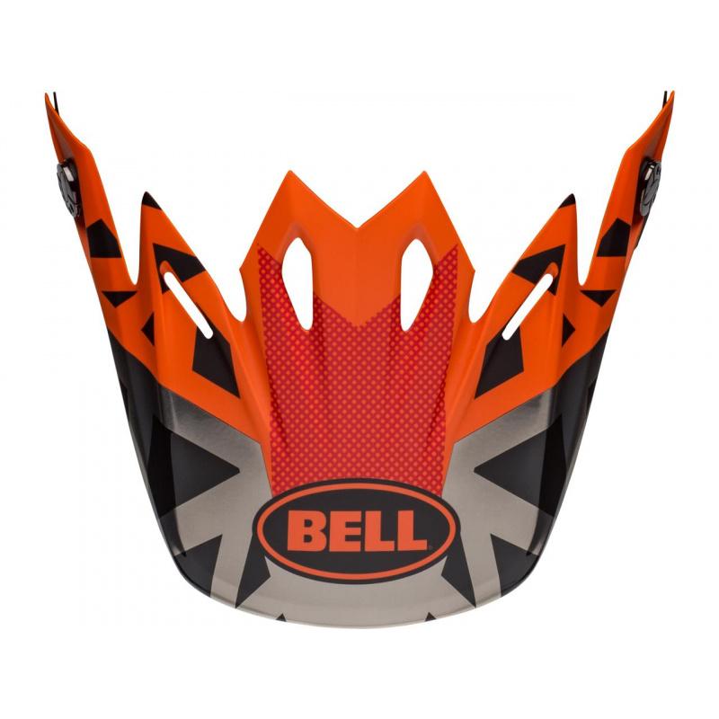 Visière BELL Moto-9 Tremor noir/orange/chrome