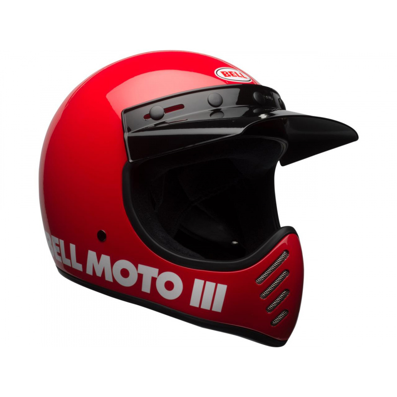 Casque BELL Moto-3 Classic Red taille XL