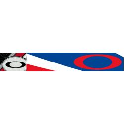 Masque OAKLEY Airbrake Heritage Racer Blue Cobalt/White écran Prizm MX Bronze