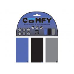 Tours de cou Comfy Oxford bleu/noir/gris