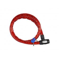 Antivol câble OXFORD Barrier 1,5m x 25mm rouge