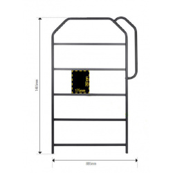 Panneautage LIGHTECH 1400 x 785 - 50 emplacements noir