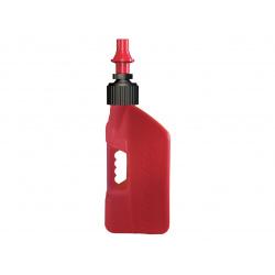 Bidon d'essence TUFF JUG 10L rouge translucide/bouchon rouge
