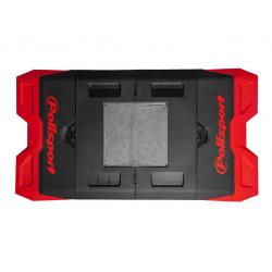 Tapis récupérateur pliable POLISPORT Bike Mat bicolore rouge/noir