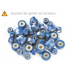 Jeu de 6 galets POLINI 20x17mm, 10,4g, coloris bleu ciel