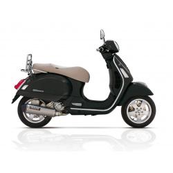 Echappement YASUNI Scooter 4 inox Look Titane/casquette noire Piaggio Vespa GTS 300