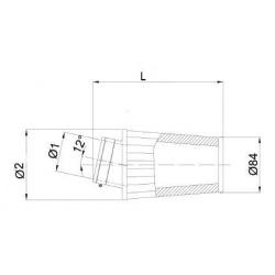 Filtre à air BMC Conique manchon Ø65mm