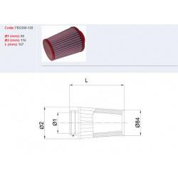 Filtre à air BMC Conique manchon Ø60mm