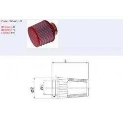 Filtre à air BMC Conique manchon Ø42mm