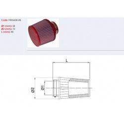 Filtre à air BMC Conique manchon Ø86mm