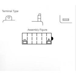Batterie YUASA 12N5-3B conventionnelle