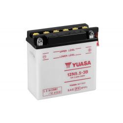 Batterie YUASA 12N5.5-3B conventionnelle