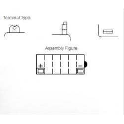 Batterie YUASA 12N5.5-4B conventionnelle