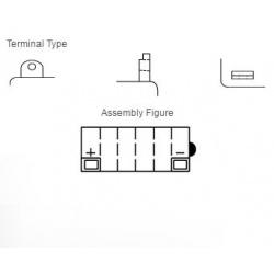 Batterie YUASA 12N9-4B-1 conventionnelle