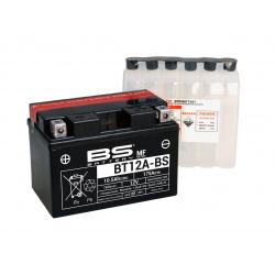 Batterie BS BATTERY BT12A-BS sans entretien livrée avec pack acide
