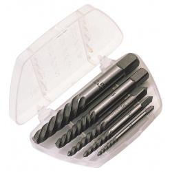 Coffret extracteur de vis DRAPER acier carbone 5 pcs 3 à 18mm