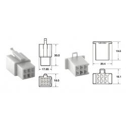 Jeu de connectiques 6 voies 110 ML BIHR type origine Ø0,5mm²/0,85mm² - 5 jeux complets