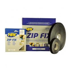 Pack ruban Zip Fix noir HPX 20mm X 5m surface crochet et sangle