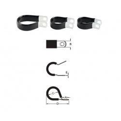 Serre-câble BIHR inox caoutchouc fin Ø19,1mm