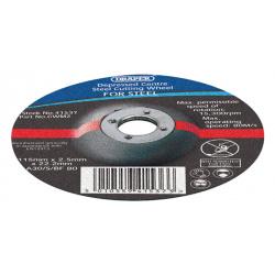 Lot de 10 disques à meuler Ø115X2.5X22.2mm DRAPER