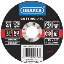 Disque à tronçonner DRAPER Ø115mm - 1,2mm