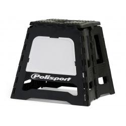 Lève-moto fixe POLISPORT repliable noir/blanc