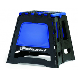 Lève-moto fixe POLISPORT repliable bleu/noir
