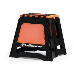 Lève-moto fixe POLISPORT repliable orange/noir