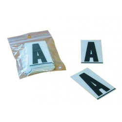 Caractères PPI ''M'' 45mm à clipser pour plaques PVC 50 pièces