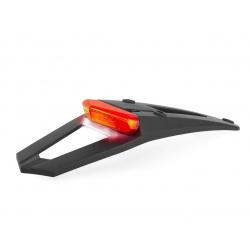 Extension de garde-boue arrière POLISPORT RSP LED 3.0 noir avec feu + éclairage de plaque