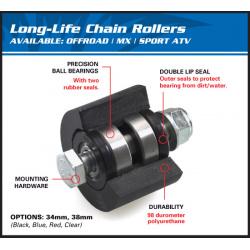 Roulette de chaine supérieur/inférieur ALL BALLS noir Kawasaki KX65/85/100