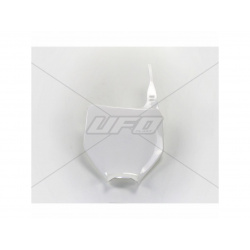 Plaque numéro frontale UFO blanc Kawasaki KX125/250