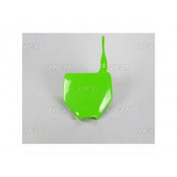 Plaque numéro frontale UFO vert Kawasaki