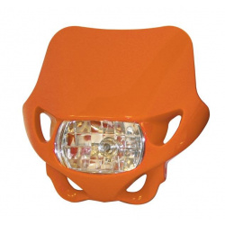 Plaque phare BIHR Enduro orange 12V/35W